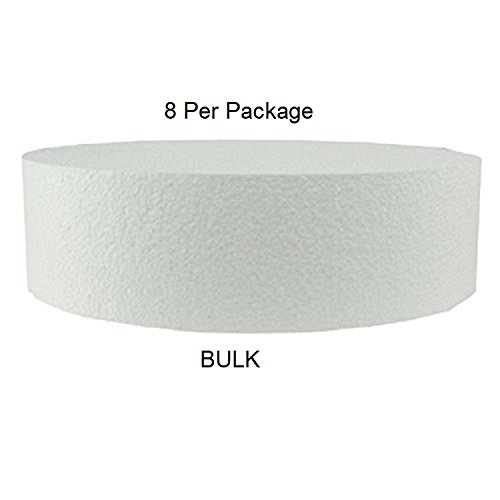 Oasis Supply Round Fake Cake Set Circle Dummy Cakes for Weddings, Crafts, and Displays, 2