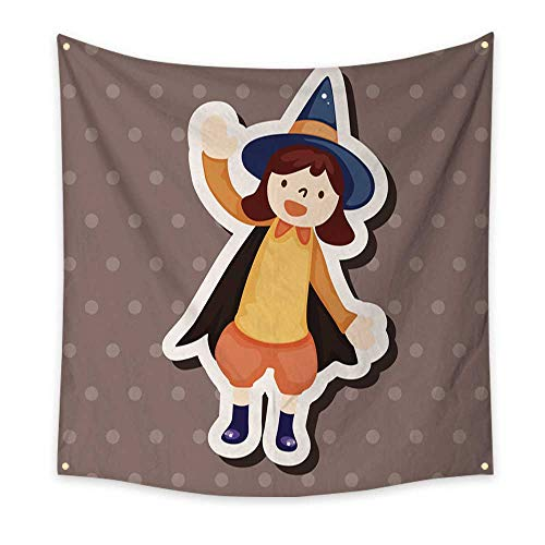 BlountDecor Art Tapestry Halloween Party Costume Theme Elements 70W x 70L Inch -