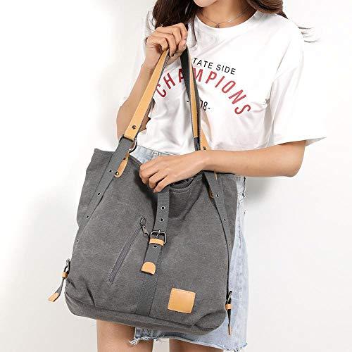 Dames Black Capacité été Nouveau Épaule Occasionnels Main Toile Femmes Sac Multifonctionnel Femme Une Printemps Style Bag Dos À Grande HUFSpzwqnx
