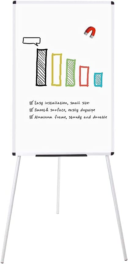 """VIZ-PRO Magnetic Portable Easel Dry Erase Board, Flipchart Easel Stand Tripod Whiteboard, 24""""W x 36""""L : Office Products"""