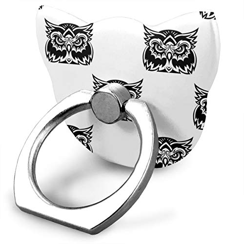 tle Wise Old Owl Cat Type Ring Phone Holder Adjustable 360° Rotation Phone Finger Holder for IPad Phone X/6/6s/7/8/8 Plus/7, Galaxy S9/S9 Plus/S8/S7 Android Smartphone ()