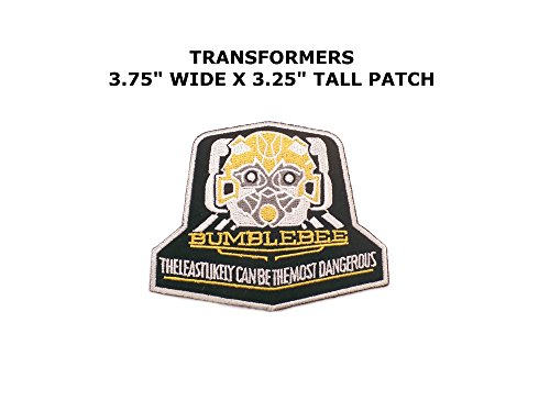 Transformers Bumblebee Iron/Sew On Embroidered Patch By Superheroes