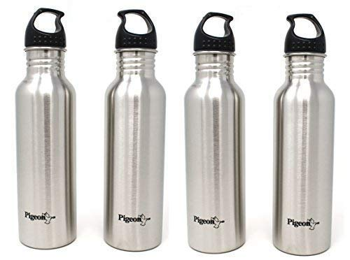 Pigeon-Stainless-Steel-Water-Bottle-Set-750ml-Set-of-4-Silver