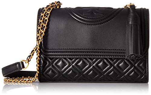 Tory Burch Women's Fleming Small Convertible Shoulder Bag, Black, One Size