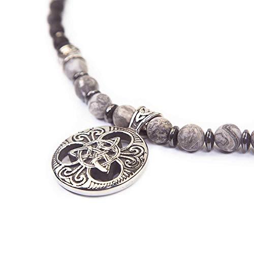 Triqueta - SKULLS AND SPIRITS - Collar de amuleto de hombres ...