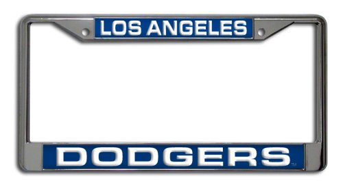 MLB Los Angeles Dodgers Laser-Cut Chrome Auto License Plate Frame
