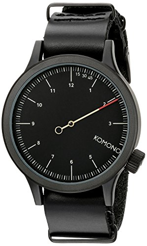 KOMONO Unisex KOM-W1904 Magnus The One Analog Display Japanese Quartz Black Watch (24 Hour Watch)