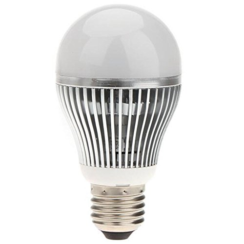 LED Light Bulbs ,AIJUN E27 Pure Light Control LED Bulb Induction Courtyard Light Daytime Off and Night Open,Non-dimmable … (7W, Warm White -2700k)