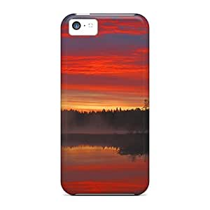 Quality Favorcase Cases Covers With Sunrise In Sweden Nice Appearance Compatible With Iphone 5c
