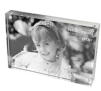 Magnetic Acrylic Photo Frame Picture Frame (4x4 inches)