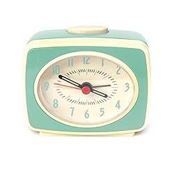 Kikkerland AC14-MN Classic Alarm Clock, Mint