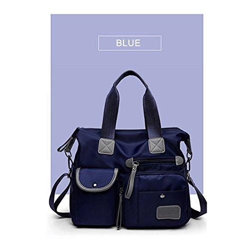 en Sac Mesdames bandouliere Sac a Casual Rouge TOOGOO Sac Nylon main Sac a Bleu Oxford Mode Impermeable Capacite Maman Toile Nouveau Grande nHwOxPB