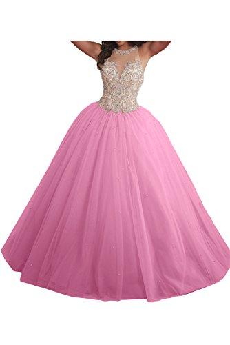 Festkleid Ballkleider Promkleid Damen Lang Ivydressing Hochwertig Dunkelrosa Duchesse Abendkleider Linie T8Y6xw0