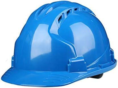 ヘッド保護 建設ヘルメット - ハード非換気ハットセーフティハードハットパーソナル保護装置4点ラチェットサスペンション調整可能ヘルメット 作業安全装置 (色 : 黄)
