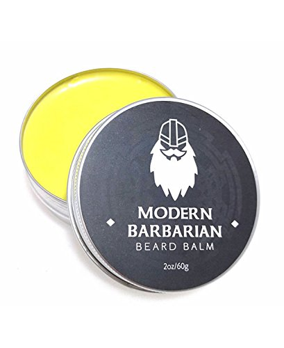 Modern Barbarian Beard Balm and Conditioner 2 oz 100 Pure Organic Natural Unscented for Groomed Beard Growth Mustache Skin for Men Jojoba Avacado and Argan Oil