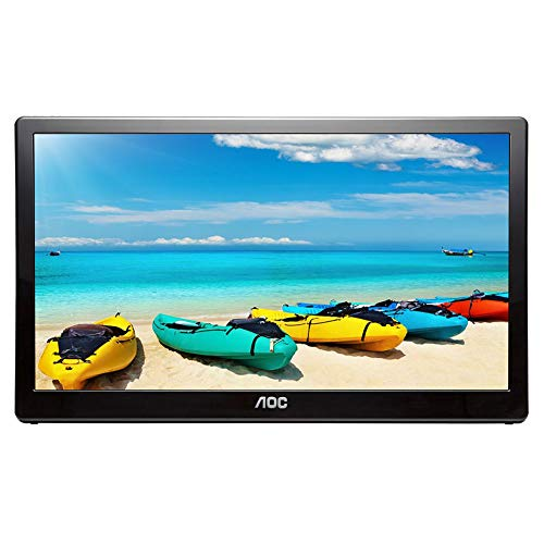 AOC I1659FWUX 15.6in USB-Powered Portable Monitor, Full HD 1920x1080 IPS, Built-in Stand, VESA (Renewed) ()