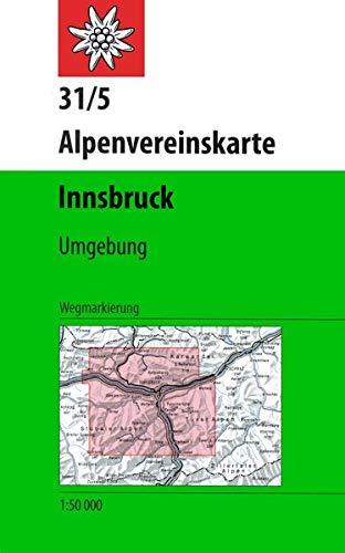 Innsbruck, Umgebung: Wegmarkierung (Alpenvereinskarten)