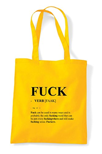The Alternative In Tote Fuck Shopper Dictionary Funny Not Bag Definition Yellow Xw7S7q