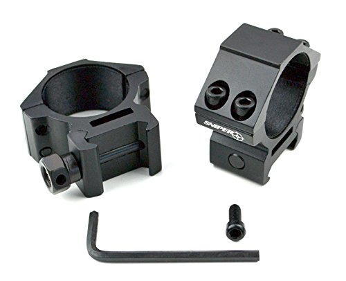 - Sniper PT-30L4 Low Profile Scope Rings for Picatinny/Weaver Rail (4 Fasten Screws for More Security), 30 mm