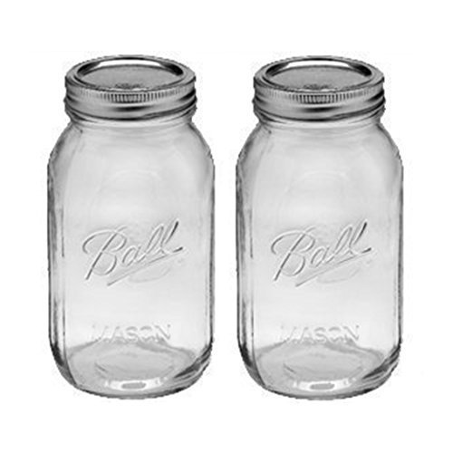 1 - 32oz Regular Mouth Ball Canning Mason Jar (Pack Of 2)