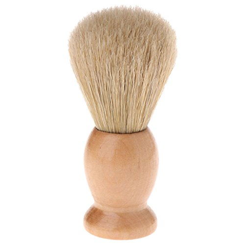 Riskt Fashion Men Shaving Beard Brush Bristle Wood Handle Razor Salon Barber Tool