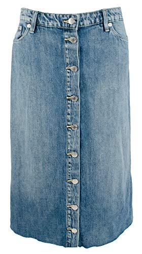 Women's Denim Midi A-Line - Women Ralph Skirts Lauren