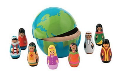 Fun Express Nesting Earth Globe with Kids - 9 pc set