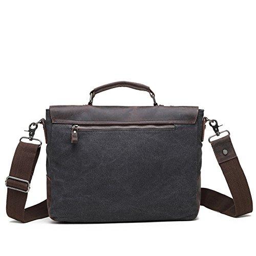 mefly con los nuevos hombres de bolso de mano bolsa de lona vintage bolsa de diagonal maletín, café café