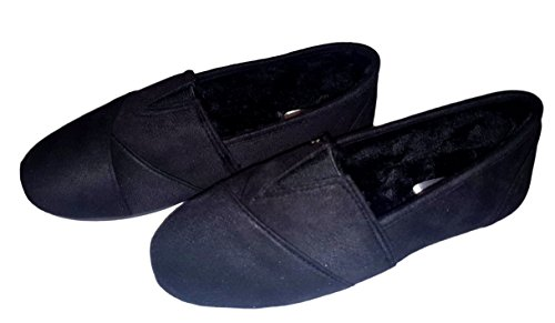Lined Womens On Faux Shoes Slip Black Fur Sheepskin Slipper Cammie ZIYdxRnqd