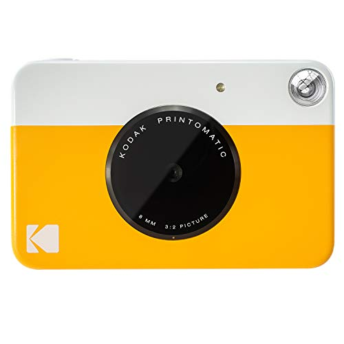 "Kodak PRINTOMATIC Digital Instant Print Camera (Yellow), Full Color Prints On ZINK 2x3"" Sticky-Backed Photo Paper - Print Memories Instantly from KODAK"