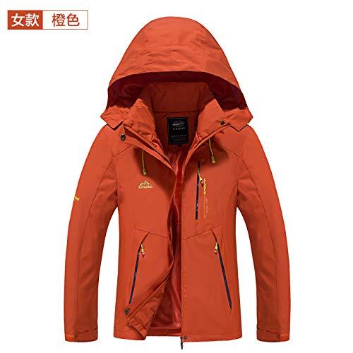 XXL Exterior Wllenen Naranja Mujer Chaqueta Chaqueta Impermeable Chaqueta Hombre para wWURSqW