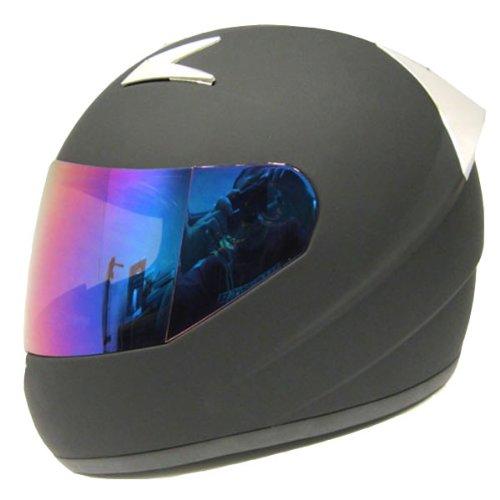 1Storm Motorcycle Street Bike Full Face Adult Helmet Booster Matt Black