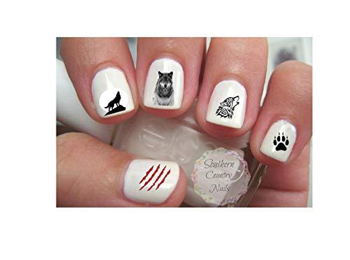 Wolf Nail Art Decals]()