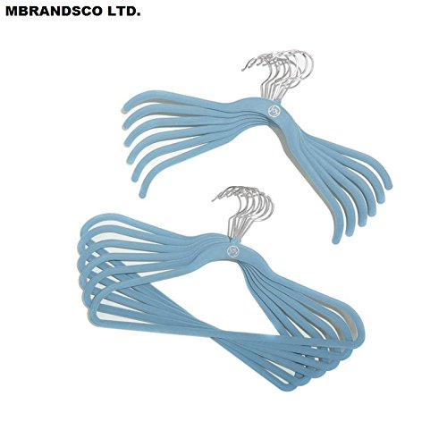 100 Pieces of Complete Closet and Storage Makeover Set with Huggable Hangers - Material Type : Chrome; Color : PERIWINKLE