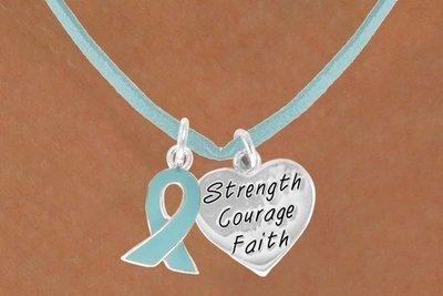 Teal Awareness Ribbon &