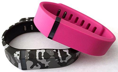 [해외]작은 1 핑크 1 위장 카모 군대 Fitbit 용 밀리터리 컬러 밴드 FLEX 전용 걸쇠로 교체 없음 추적기 없음/Small 1 Pink 1 Camouflage Camo Army Military Color Band for Fitbit FLEX Only With Clasps Replacement  No tracker