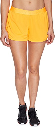 Reebok Women's Workout Ready Woven Shorts Fire Spark (Reebok Elastic Waist Shorts)