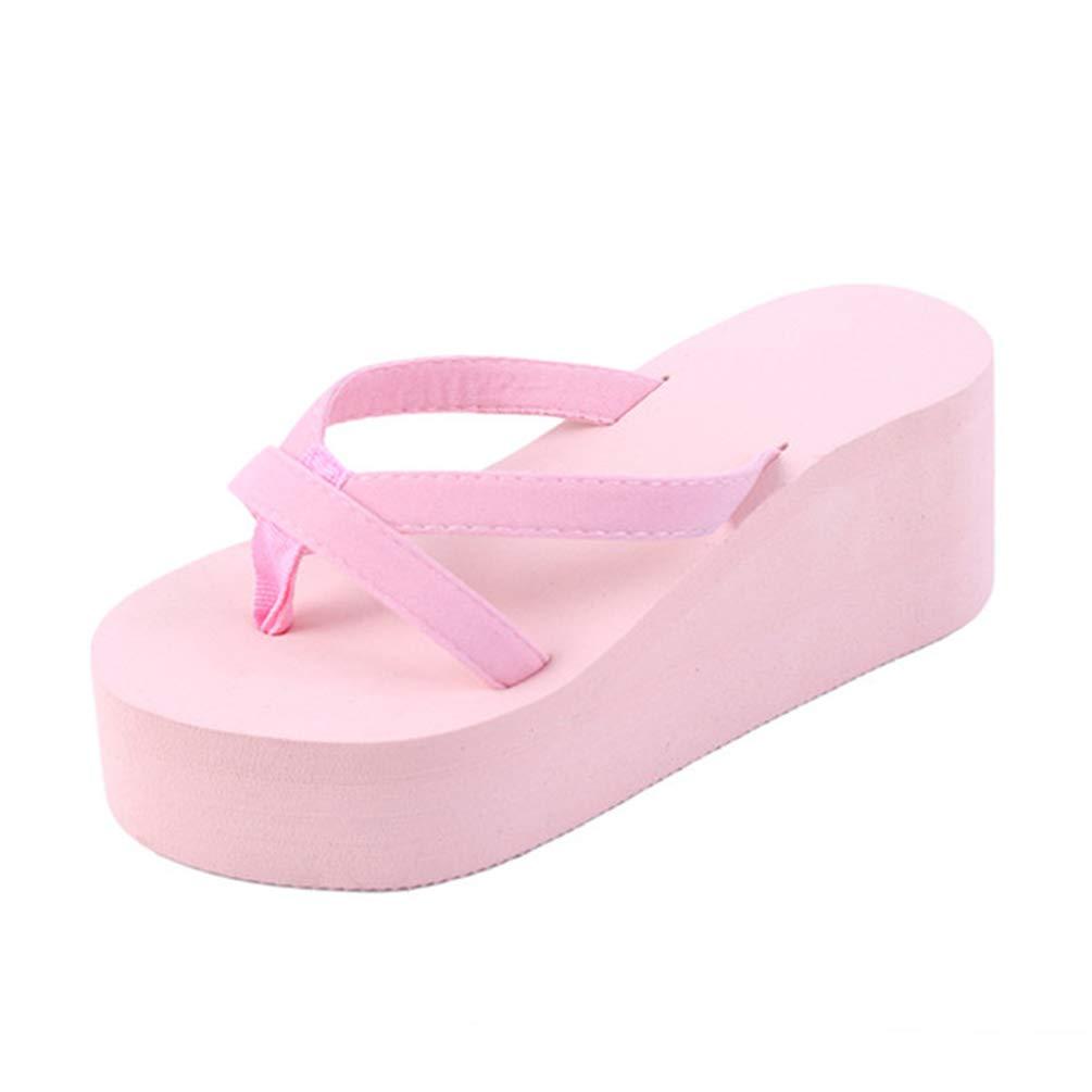 XHCHE 3561 Plage d'été Sandales Sandales Wedges Femmes Slip Flip Flops Wedges Sandales Sandales Casual Chic féminin Ladies Shoes Rose 8df0f2a - boatplans.space