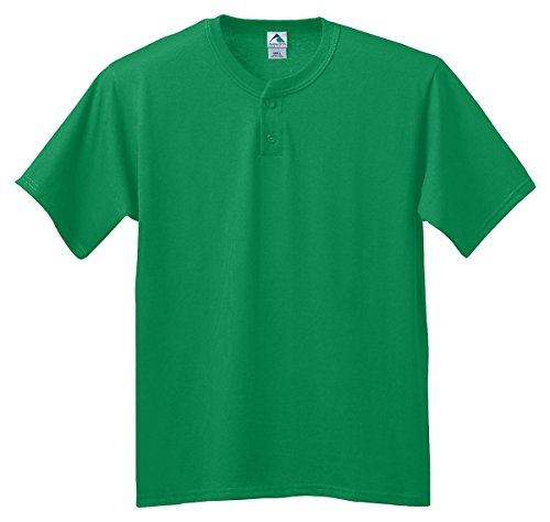 Augusta Sportswear Six-ounce two-button baseball jersey - KELLY - L by Augusta Sportswear