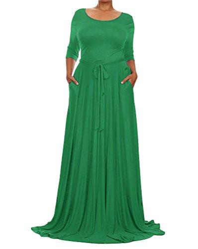 Festliches kleid lang grun
