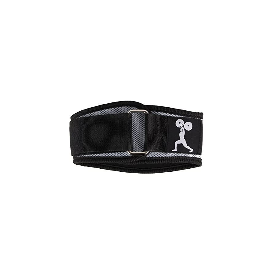 Esright Black Weightlifting Belt Support For Powerlifting, Crossfit, Bodybuilding, MMA Strength & Weight Training, Width 6.1in (Back)¡