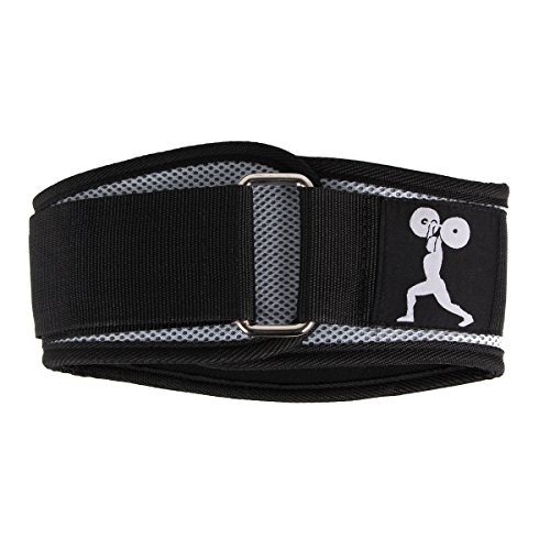 Esright Black Weightlifting Belt Support For Powerlifting, Crossfit, Bodybuilding, MMA Strength & Weight Training, Width 6.1in (Back)¡­
