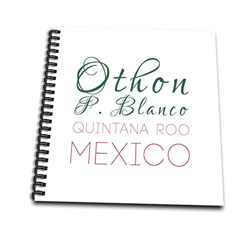 (3dRose Alexis Design - Mexican Cities - Othon P. Blanco, Quintana Roo national color patriot Mexico home town - Mini Notepad 4 x 4 inch (db_311788_3))
