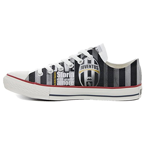 Converse All Star CUSTOMIZED , Sneaker Unisex, printed Italian style Slim  vertical stripes
