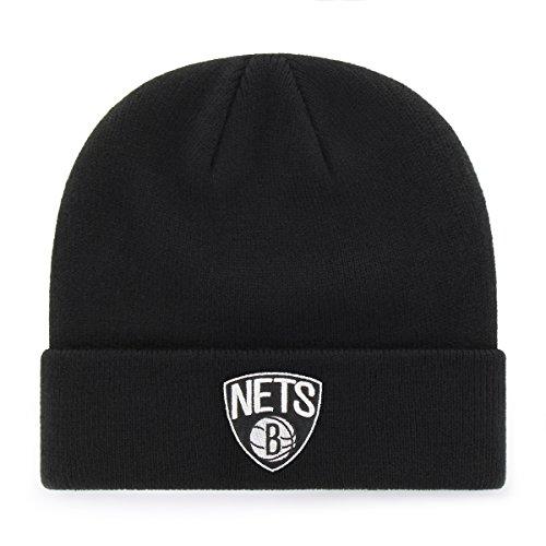 fan products of NBA Brooklyn Nets OTS Raised Cuff Knit Cap, Black, One Size