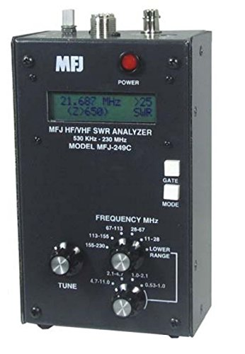 Amazon com: MFJ-249C Antenna analyzer, HF/VHF: Home Audio