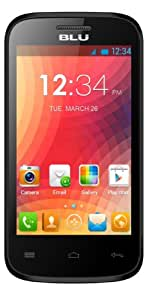 BLU Dash Jr 4.0 - Teléfono móvil dual SIM, negro