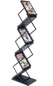 DR009 exposiciones plegable soporte de exhibición de libros folletos revistas