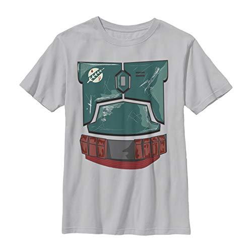 (Star Wars Boys' Boba Fett Scratched Armor Costume Silver)