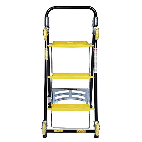 Ivation 4 in 1 moving trolley step ladder hand truck for Furniture hand truck
